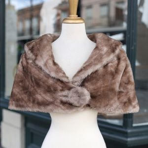 Rare one of a kind 60s faux fur capelette
